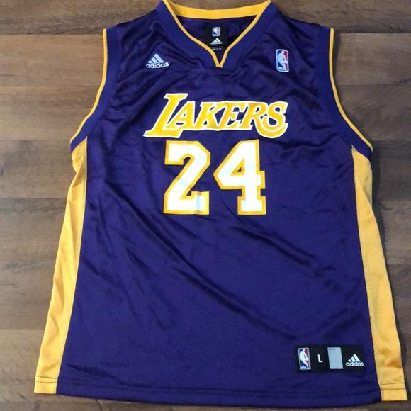 73a84d1e75c adidas Other - Adidas LA Lakers Boys Size L Kobe Bryant Jersey